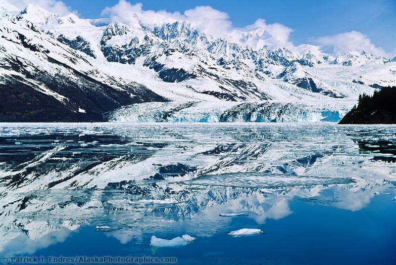 Face of  Harvard glacier in College Fjord, Chugach mountains, Prince William Sound, Alaska