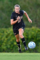 Texas defender Isabelle Kerr (14) during NCAA soccer game, Sunday, September 21, 2014 in San Marcos, Tex. Texas defeated Texas State 2-0. (Mo Khursheed/TFV Media via AP Images)