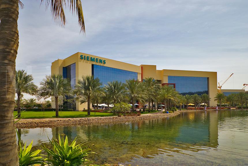 Siemens headquarters and office in the Enterprise Zone, one of the Dubai Free Zones. Dubai. United Arab Emirates.