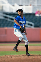 Hudson Valley Renegades starting pitcher Resly Linares (30) in action against the Aberdeen IronBirds at Leidos Field at Ripken Stadium on July 27, 2017 in Aberdeen, Maryland.  The Renegades defeated the IronBirds 2-0 in game one of a double-header.  (Brian Westerholt/Four Seam Images)