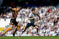 16.05.2015.  London, England. Barclays Premier League. Tottenham Hotspur versus Hull City.  Tottenham Hotspur's Ryan Mason in action ; Mason was made interim team manager for 2021 season after Spurs sacked Jose Mourinho. Mason retired from playing for Tottenham after suffering a fractured skull in a game in early 2017 at Hull.