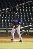 AZL Padres first baseman Jaquez Williams (45) on defense against the AZL Indians on August 30, 2017 at Goodyear Ball Park in Goodyear, Arizona. AZL Padres defeated the AZL Indians 7-6. (Zachary Lucy/Four Seam Images)
