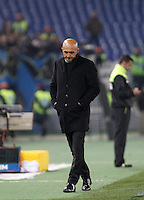 Calcio, Serie A: Roma vs Inter. Roma, stadio Olimpico, 19 marzo 2016.<br /> Roma's coach Luciano Spalletti looks down during the Italian Serie A football match between Roma and FC Inter at Rome's Olympic stadium, 19 March 2016. The game ended 1-1.<br /> UPDATE IMAGES PRESS/Isabella Bonotto