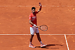Novak Djokovic during the Mutua Madrid Open Masters match on day 7 at Caja Magica in Madrid, Spain.May 09, 2019. (ALTERPHOTOS/A. Perez Meca)