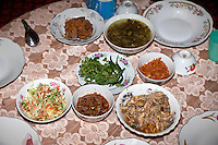 Myanmar, Burma.  Zayar Thein Gyi Nunnery, near Mandalay.  Lunch., near Mandalay.  Lunch.