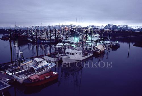 Homer Marina, at the end of the Homer Spit,  Homer Alaska.