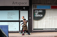 WORDS BY KARL WEST<br /> Pictured: Artspace and Music Art Dance Friday 30 September 2016<br /> Re: The regeneration of the High Street in Swansea, Wales, UK