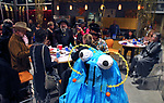 Guest enjoy dinner as dozens of artists from around the state of Nevada performed or demonstrating their crafts at the annual Capital Collage in Carson City, Nev., on Friday, October 27, 2017. <br /> Photo by Lance Iversen/Nevada Momentum
