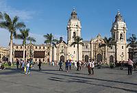 Lima, Peru.  Cathedral and Archbishop's Palace.