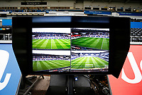 The VAR system on the sidelines at Liberty Stadium prior to kick off of the Fly Emirates FA Cup Quarter Final match between Swansea City and Tottenham Hotspur at the Liberty Stadium, Swansea, Wales, UK. Saturday 17 March 2018