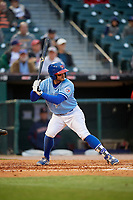 Buffalo Bisons third baseman Christian Lopes (11) bats during a game against the Pawtucket Red Sox on May 19, 2017 at Coca-Cola Field in Buffalo, New York.  Buffalo defeated Pawtucket 7-5 in thirteen innings.  (Mike Janes/Four Seam Images)