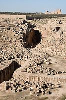 Sabratha, Libya - Roman Ampitheater, 2nd Century; Theater in Background.
