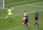 22.06.2021 Croatia v Scotland: Ivan Perisic's shot is straight at David Marshall