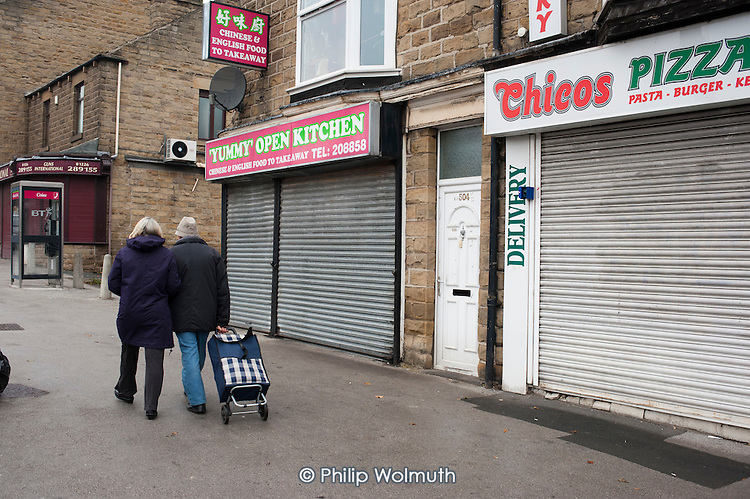 Closed businesses in Barnsley, South Yorkshire.