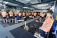 Players exercise in the gym during the Swansea City Training Session at The Fairwood Training Ground, Wales, UK. Tuesday 03 July 2018