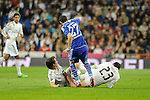 Real Madrid´s Isco and FC Shalke 04´s Tranquillo Barnetta during 2014-15 Champions League match between Real Madrid and FC Shalke 04 at Santiago Bernabeu stadium in Madrid, Spain. March 10, 2015. (ALTERPHOTOS/Luis Fernandez)