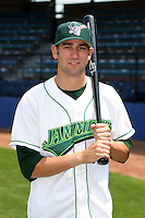 Jamestown Jammers Chris Hatcher poses for a photo before a NY-Penn League game at Russell Diethrick Park on July 1, 2006 in Jamestown, New York.  (Mike Janes/Four Seam Images)