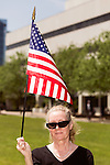 April 25, 2016. Raleigh, North Carolina. <br />  Glenda Ball of Salisbury, NC.<br />   Supports of House Bill 2 (HB2) held a rally that brought thousands to the Halifax Mall to show their support for the bill that has proved to be highly divisive in the state. Stating that the bill, which stated that transgender people must use the bathroom of the sex stated on their birth certificate, was a safety issue, as well as a religious moral one, a series of state politicians and religious leaders tooth stage to express their support for embattles NC governor Pat McCrory.