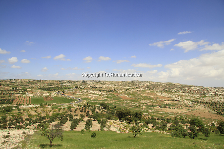 Southern Hebron Mountains, a view from Tel Ziph