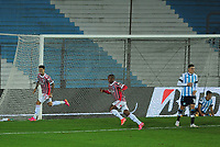 20th July 2021; Buenos Aires, Argentina;  Emiliano Rigoni of São Paulo, celebrates his goal during the match between Racing and São Paulo, for the Round of 16 of the Libertadores 2021, at Estádio Presidente Perón