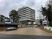 Wycombe Hospital in the town centre on March 19, 2020 in High Wycombe, United Kingdom during the COVID-19 pandemic causing people to panic buy items. Photo by Andy Rowland.
