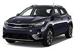 2018 KIA Stonic Sense 5 Door SUV angular front stock photos of front three quarter view