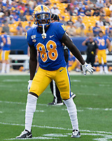 Pitt wide receiver Dontavius Butler-Jenkins. The Pitt Panthers defeated the UCF Knights 35-34 in a football game played at Heinz Field, Pittsburgh, Pennsylvania on September 21, 2019.