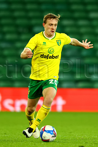 3rd November 2020; Carrow Road, Norwich, Norfolk, England, English Football League Championship Football, Norwich versus Millwall; Oliver Skipp of Norwich City comes forward on the ball