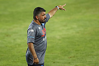 Gennaro Gattuso coach of SSC Napoli gestures<br /> during the friendly football match between SSC Napoli and L Aquila 1927 at stadio Patini in Castel di Sangro, Italy, August 28, 2020. <br /> Photo Cesare Purini / Insidefoto