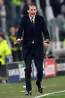 Massimiliano Allegri of Juventus reacts during the Uefa Champions League 2018/2019 round of 16 second leg football match between Juventus and Atletico Madrid at Juventus stadium, Turin, March, 12, 2019 <br />  Foto Andrea Staccioli / Insidefoto