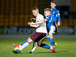 St Johnstone v Hearts…30.10.19   McDiarmid Park   SPFL<br />Oliver Bozanic is tackled by Ali McCann<br />Picture by Graeme Hart.<br />Copyright Perthshire Picture Agency<br />Tel: 01738 623350  Mobile: 07990 594431