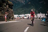 Christophe Laporte (FRA/Cofidis) up the final climb of the day (in Spain!): the Col du Portillon (Cat1/1292m)<br /> <br /> Stage 16: Carcassonne > Bagnères-de-Luchon (218km)<br /> <br /> 105th Tour de France 2018<br /> ©kramon