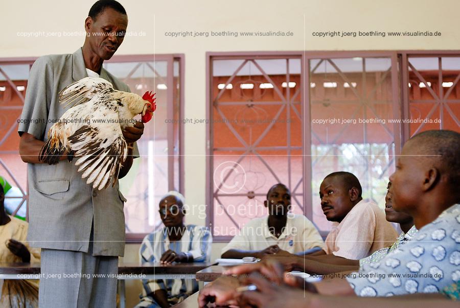 BURKINA FASO, Ougadougou , CEAS Albert Schweitzer centre for agricultural training, poultry department / Burkina Faso Ougadougou , CEAS Albert Schweizer Zentrum fuer landwirtschaftliche Weiterbildung und Ausbildung