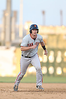 Ben Turner (18) of the San Jose Giants runs the bases during a game against the Lancaster JetHawks at The Hanger on April 11, 2015 in Lancaster, California. San Jose defeated Lancaster, 8-3. (Larry Goren/Four Seam Images)