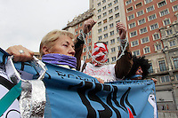 Demonstration against Gag Law from Espana Square to Puerta del Sol in Madrid on February 14, 2015. Photo by Muddy Ignace/ DyD Fotografos-DYDPPA