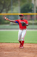 Philadelphia Phillies Josh Tobias (26) during a minor league Spring Training game against the Toronto Blue Jays on March 26, 2016 at Englebert Complex in Dunedin, Florida.  (Mike Janes/Four Seam Images)