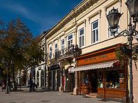 auf der Zmaj Jovina in Novi Sad = Neusatz, orthodoxe Kirche des heiligen Georg in Novi Sad , Serbien, Europa<br /> Zmaj Jovina Street, Novi Sad, Vojvodina, Serbia, Europe