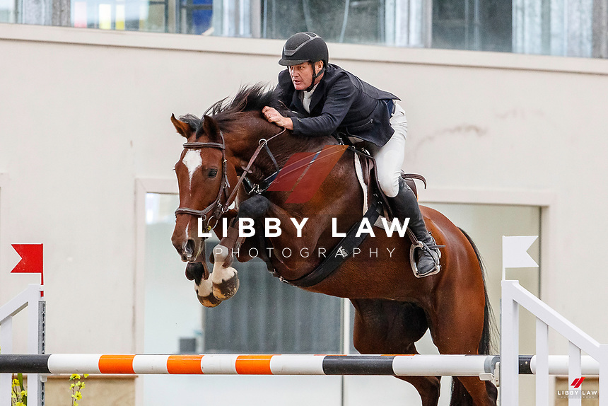NZL-Glen Beal rides Soprano. Final-3rd. Class 30: Sky Sport Next 1.30m-1.35m 10K - FINAL. 2021 NZL-Easter Jumping Festival presented by McIntosh Global Equestrian and Equestrian Entries. NEC Taupo. Sunday 4 April. Copyright Photo: Libby Law Photography