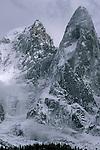 La Verte & Les Drus after a September storm, Chamonix Mont Blanc, France, 1998