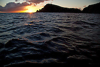 Sunset looking towards Rams Head<br />
