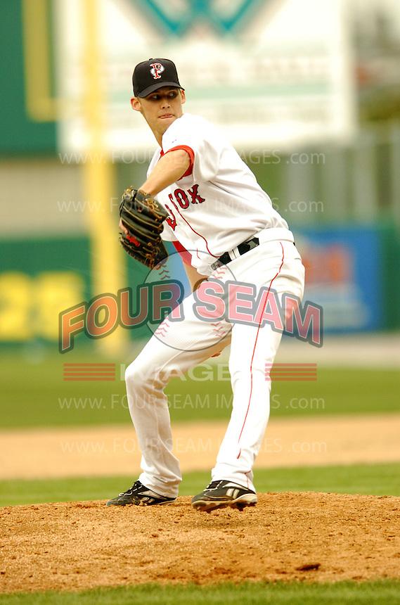 Pawtucket Red Sox' RHP Daniel Bard at McCoy Stadium April 18, 2009 in Pawtucket, RI  (Photo by Ken Babbitt/Four Seam Images)