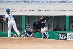 #13 Ririna Kanemitsu of Japan bats during the BFA Women's Baseball Asian Cup match between South Korea and Japan at Sai Tso Wan Recreation Ground on September 2, 2017 in Hong Kong. Photo by Marcio Rodrigo Machado / Power Sport Images