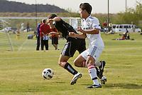 2010 US Soccer Development Academy Winter Showcase U15/16 Chicago Fire vs NJSA 04 at Reach 11 Soccer Complex in Phoenix, Arizona in December of  2010.