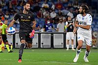 3rd October 2021; Stadio Olimpico, Rome, Italy; Serie A football, AS Roma versus Empoli; Rui Patrício of AS Roma collects the through ball safely
