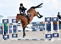 MIAMI BEACH, FL - APRIL 14: Jessica Rae Springsteen at the Longines Global Champions Tour stop in Miami Beach. The winner was Lorenzo de Luca, second place was Christian Ahlmann and third place was singer Bruce Springsteen's daughter Jessica Rae Springsteen. Also riding but did not make the finals was Georgina Bloomberg and Jennifer Gates on April 14, 2017 in Miami Beach, Florida.<br /> <br /> People:  Jessica Rae Springsteen