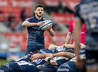21st March 2021; AJ Bell Stadium, Salford, Lancashire, England; English Premiership Rugby, Sale Sharks versus London Irish; Will Cliff of Sale Sharks puts into the scrum