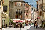 Switzerland, Canton Valais, Sion: old town lane | Schweiz, Kanton Wallis, Sion (Sitten): Altstadtgasse