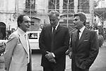 GORE VIDAL CON ITALO CALVINO E ALBERTO ARBASINO  RAVELLO 1983