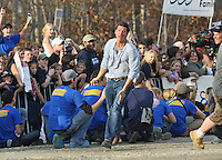 Host Tye Pennington on the set of ABC's Extreme Home Makeover Dec. 10, 2007 in Rice, VA.