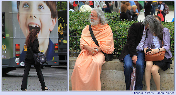 """France, Paris.  <br /> Have your camera ready to capture your own """"decisive moments."""" That's why smart phones are so popular and effective. Don't be a DSLR snob. Near Notre Dame Cathedral, Paris."""